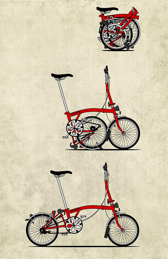 Bike Mixed Media - Brompton Bicycle by Andy Scullion