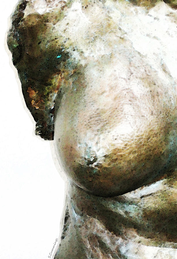 Nude Painting - Bronze Bust 1 by Sharon Cummings