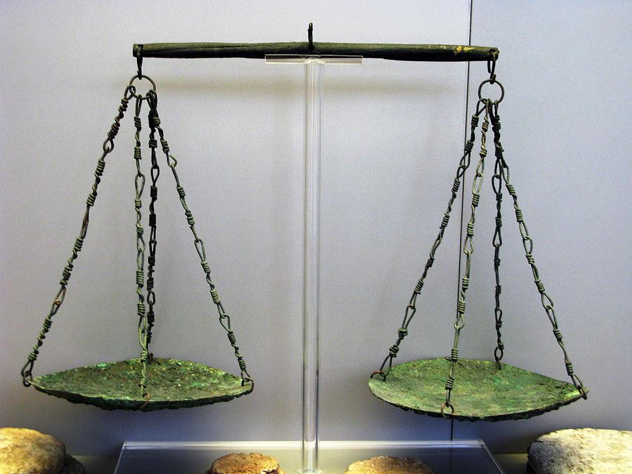 Archaeological Artifact Photograph - Bronze Scale by Andonis Katanos