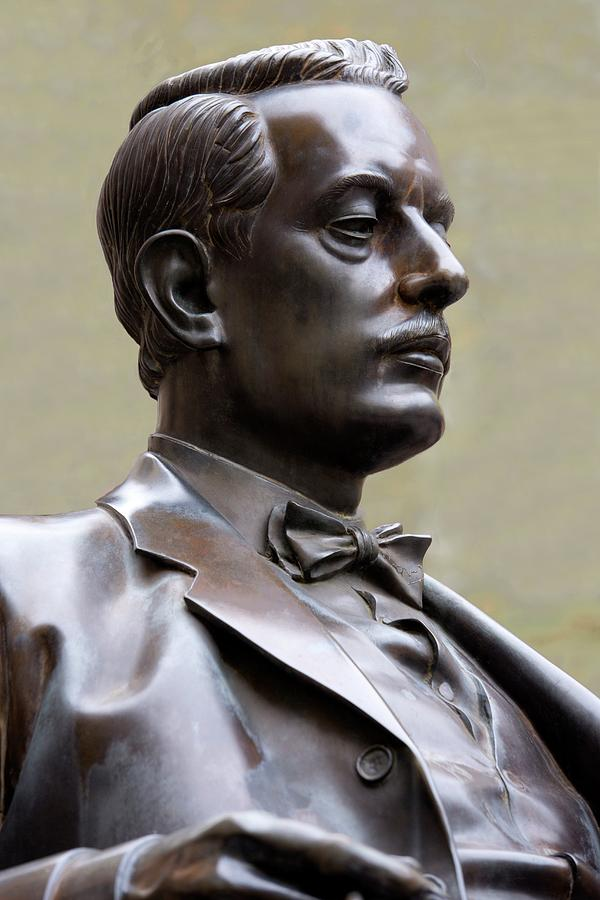 Giacomo Puccini Photograph - Bronze Statue Of Puccini by Sheila Terry