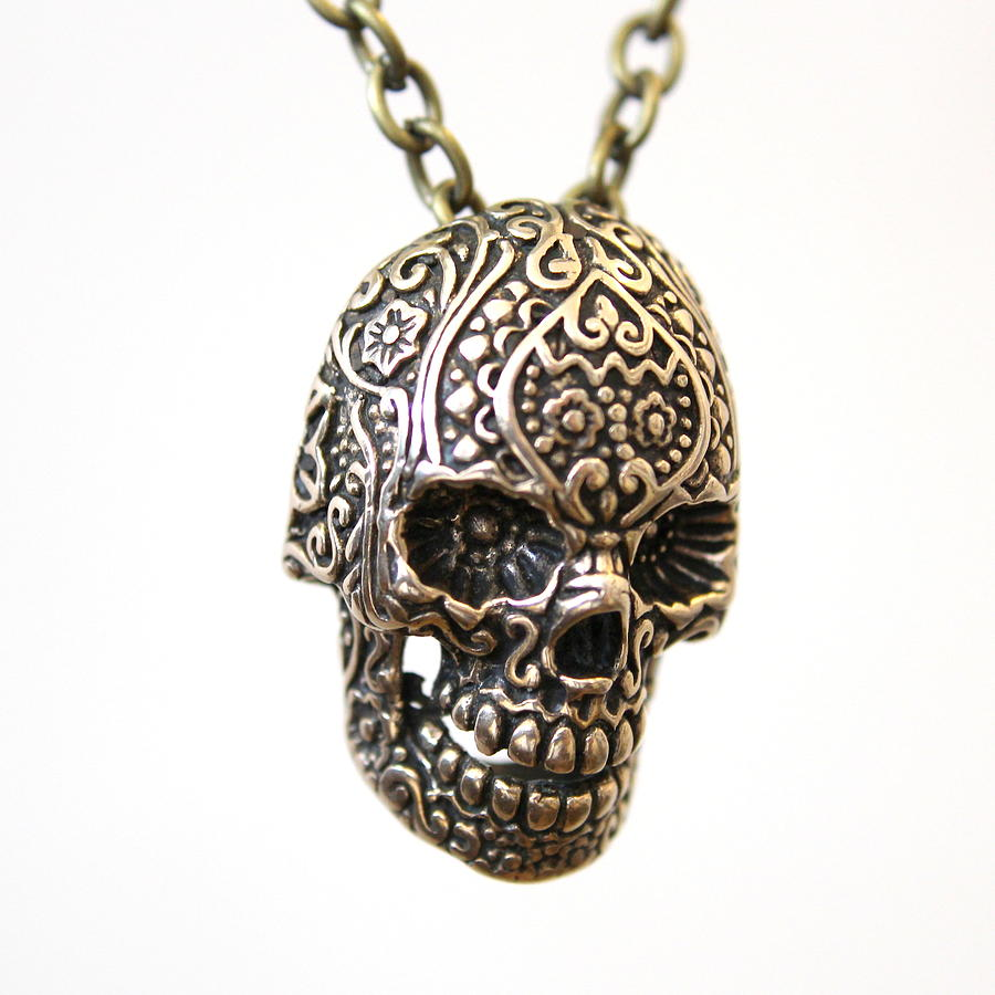 cristy sterling silver large pendant sugar cali skull product