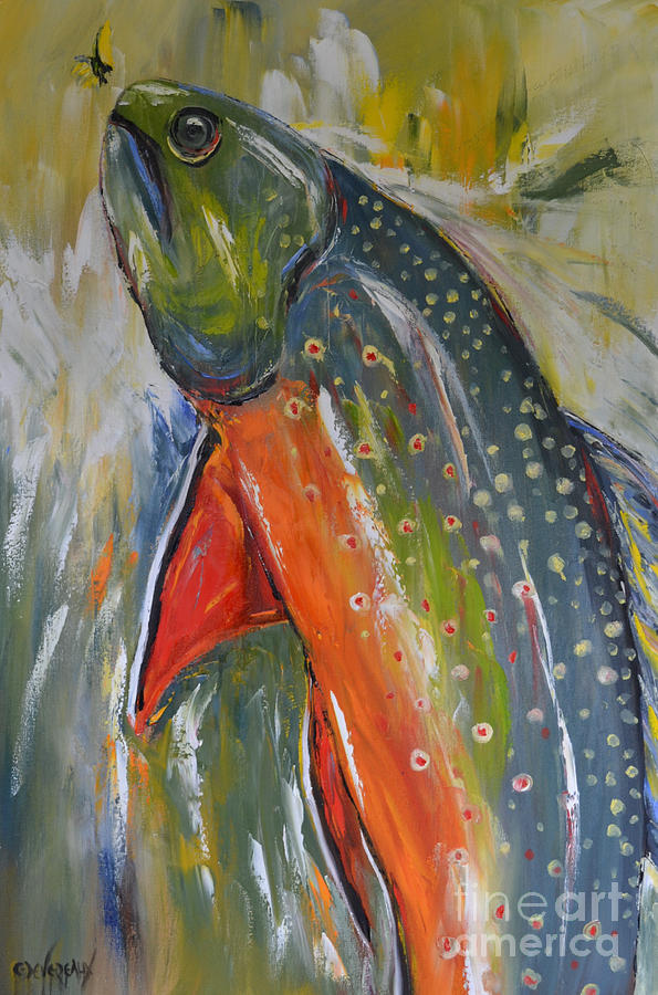 Horse Painting - Brook Trout by Cher Devereaux