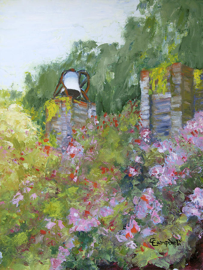 Brookgreen Gardens Painting - Brookgreen Old Kitchen Bell by Cecelia Campbell