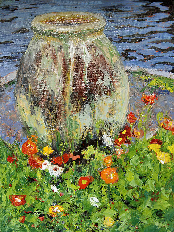 Gardens Painting - Brookgreen Urn by Cecelia Campbell