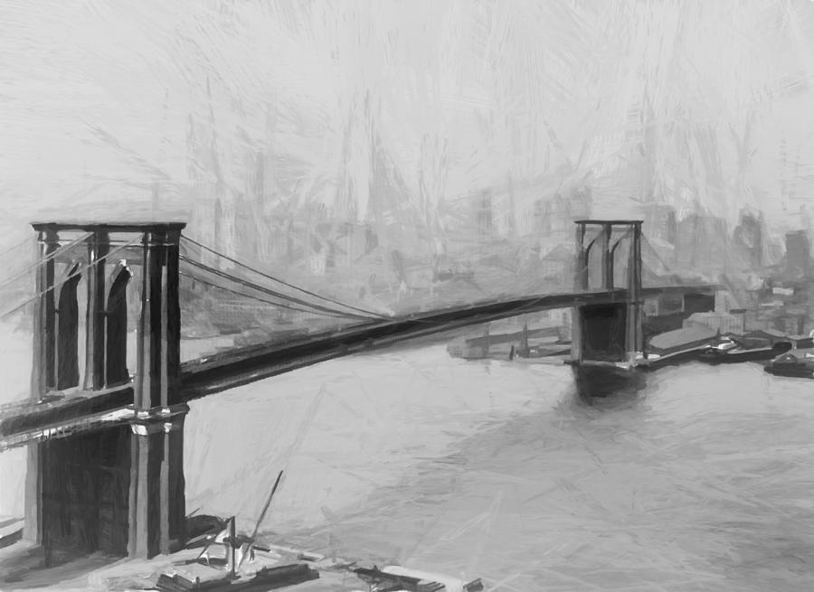 Brooklyn Bridge 2 Painting by Steve K