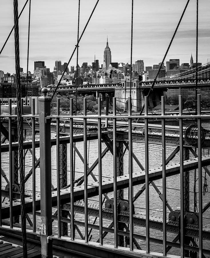 Deidre Elzer-lento Photograph - Brooklyn Bridge 2853 Bw by Deidre Elzer-Lento