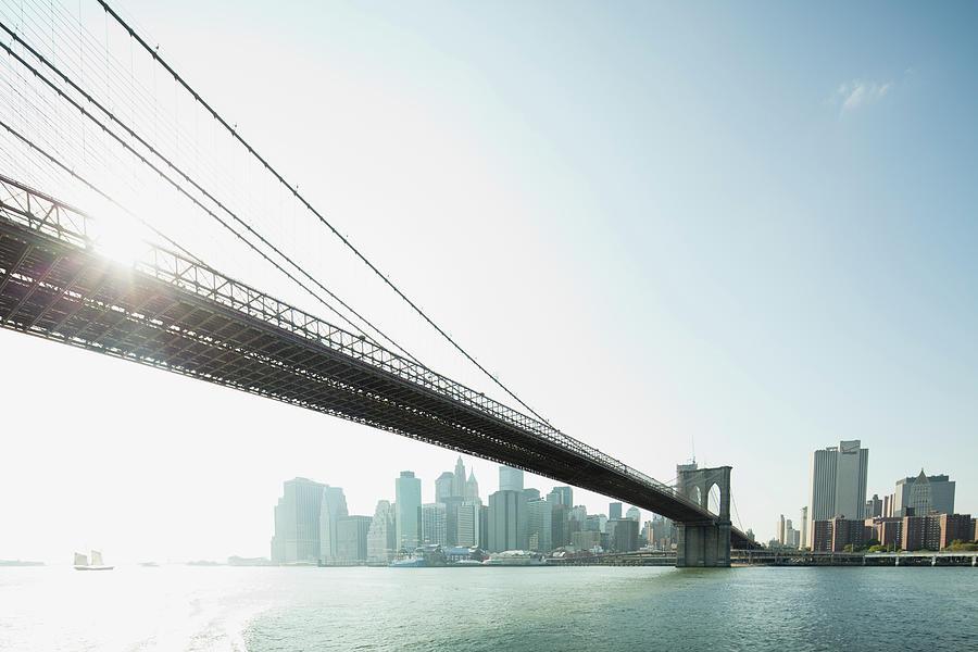 Brooklyn Bridge And Lower Manhattan Photograph by Photoalto/frederic Cirou