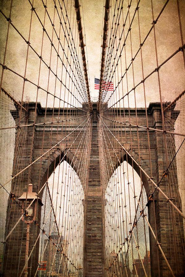Bridge Photograph - Brooklyn Bridge Approach by Jessica Jenney