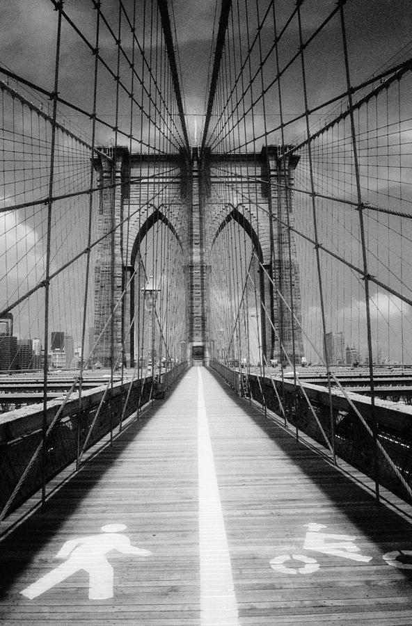 Brooklyn Bridge Infrared by Dave Beckerman
