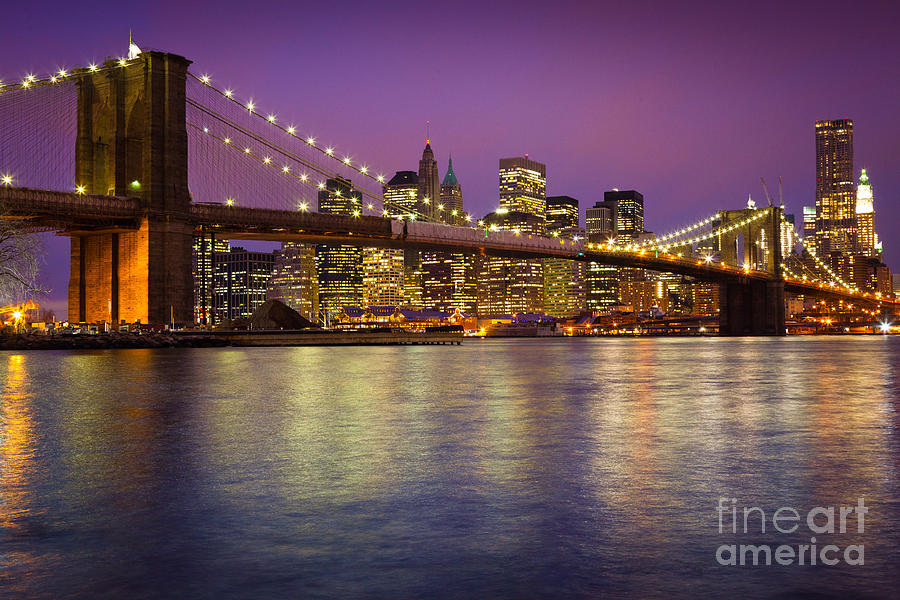 America Photograph - Brooklyn Bridge by Inge Johnsson