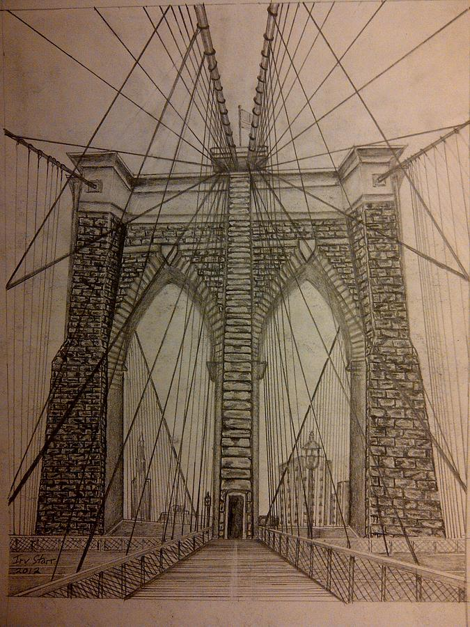 Brooklyn bridge drawing by irving starr brooklyn bridge drawing brooklyn bridge by irving starr malvernweather Gallery