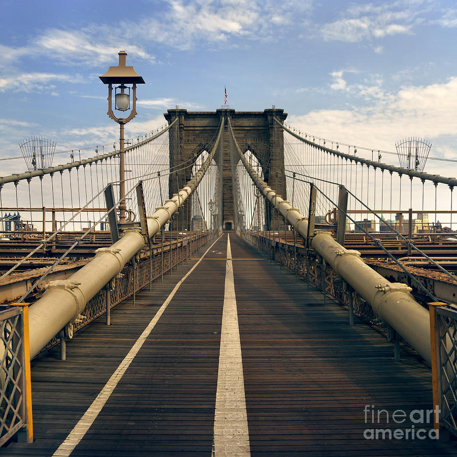 Brooklyn Photograph - Brooklyn Bridge by Istvan  Kadar