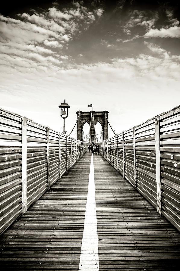 Brooklyn Bridge New York Photograph by Ferrantraite