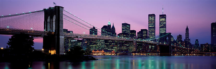 Color Image Photograph - Brooklyn Bridge New York Ny Usa by Panoramic Images