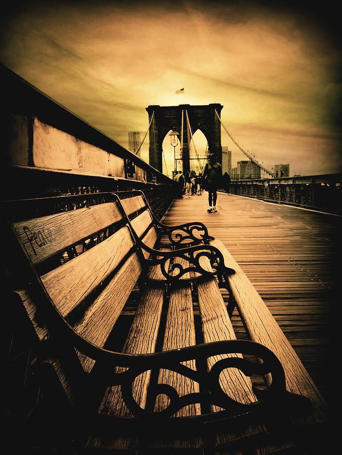 Bridge Photograph - Brooklyn Bridge Sunset by Jessica Jenney