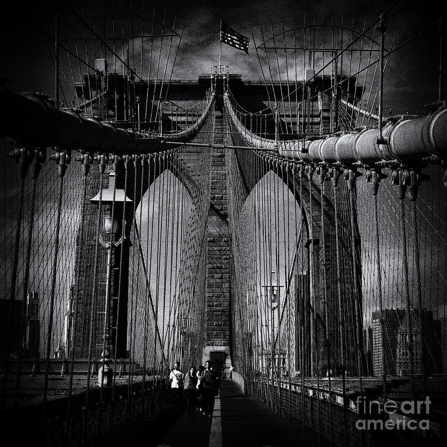 New York City Photograph - Brooklyn Bridge Up Close New York City by Sabine Jacobs