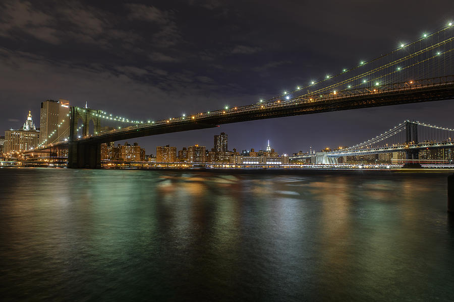 New York City Photograph - Broooklyn Bridhe At Night by Dick Wood