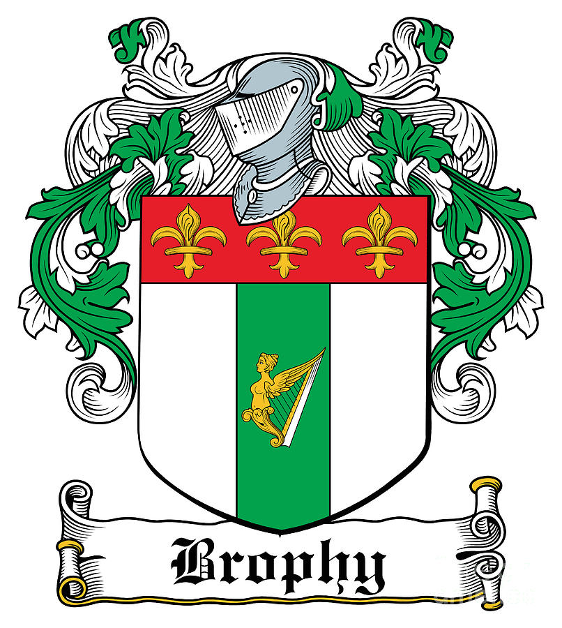 Brophy Digital Art - Brophy Coat of Arms Irish by Heraldry