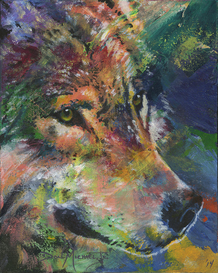 Wolf Painting - Brother Wolf by Don Michael Jr
