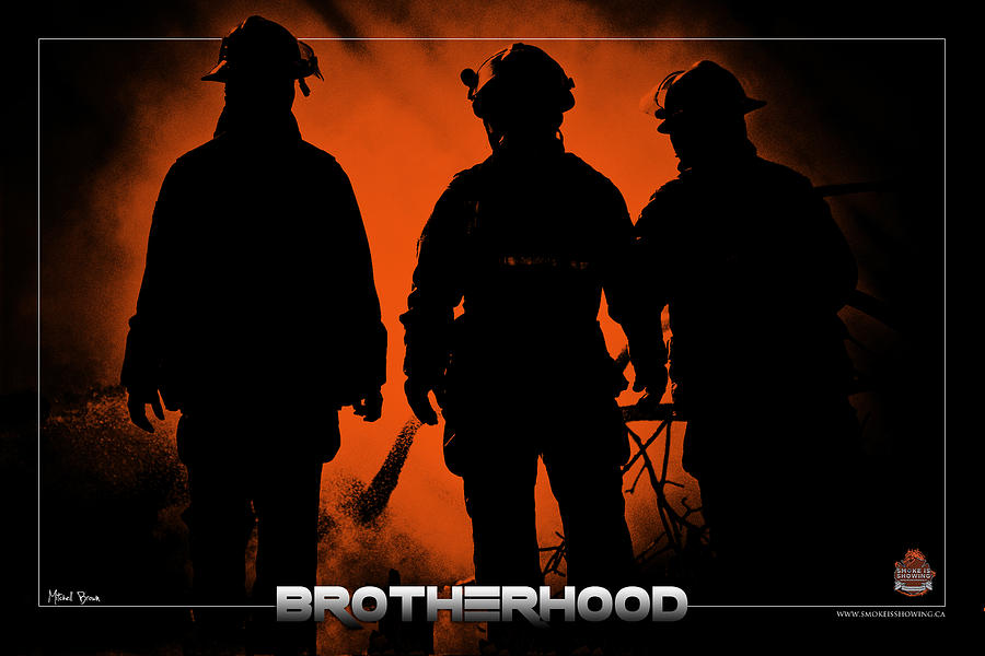 Firefighter Photograph - Brotherhood 1 by Mitchell Brown