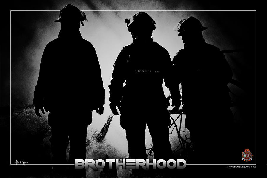 Firefighter Photograph - Brotherhood 2 by Mitchell Brown