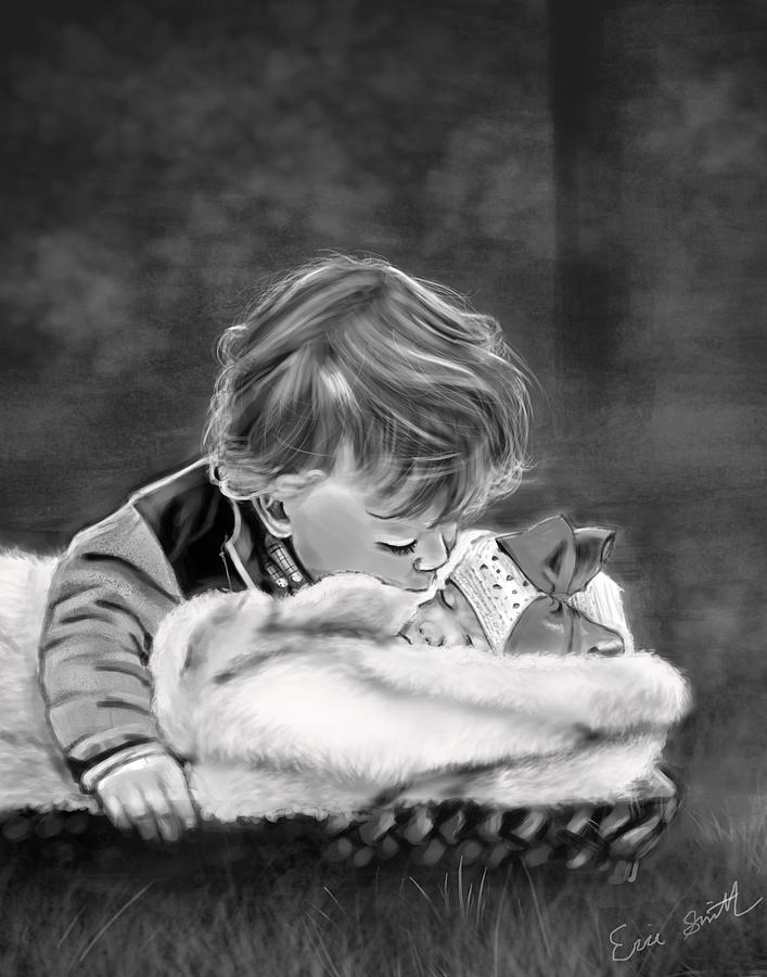 Portrait Digital Art - Brotherly Love by Eric Smith