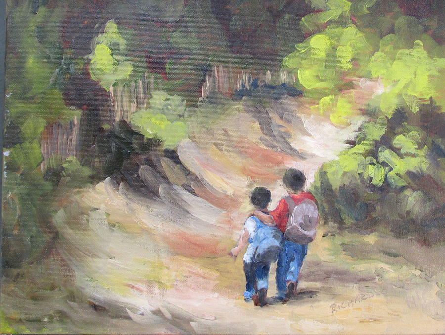 Brother Painting - Brotherly Love by Susan Richardson