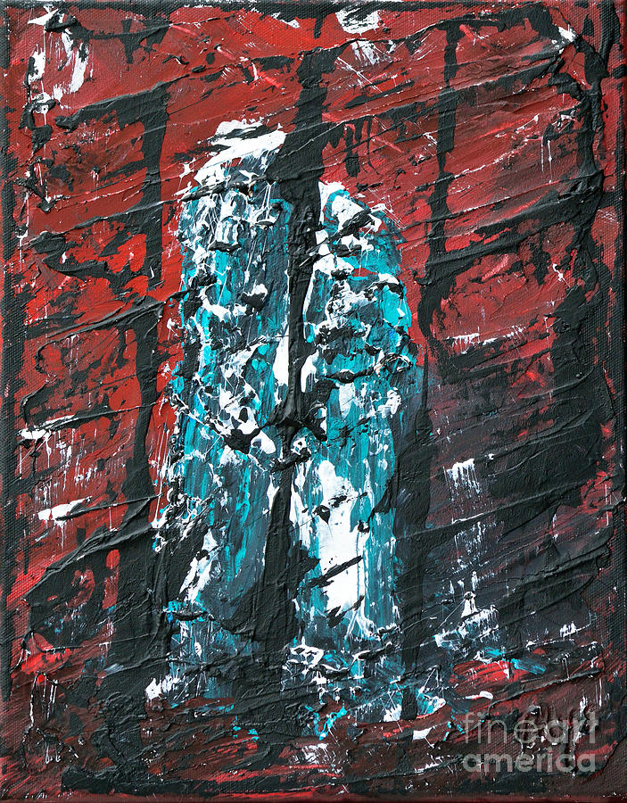 Twin Towers Painting - Brothers by Alys Caviness-Gober