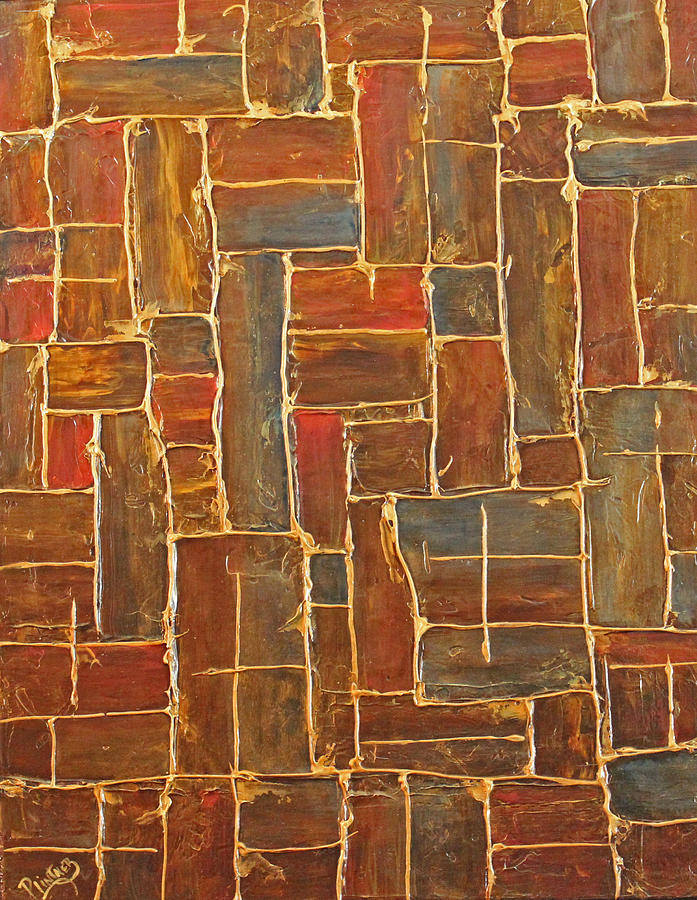 Brown Painting - Brown And Gold  by Patricia Lintner