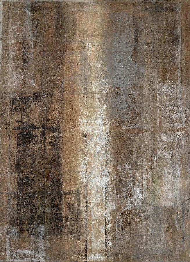 7d5def8f1d8 Brown Painting - Slender - Grey And Brown Abstract Art Painting by  CarolLynn Tice