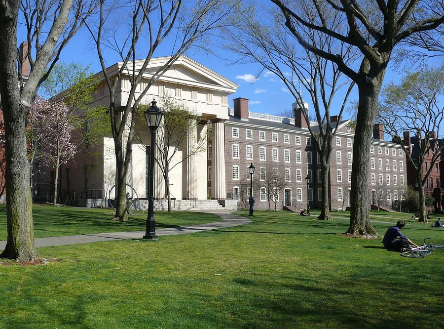 Brown Photograph - Brown Campus Manning Hall by Georgia Fowler
