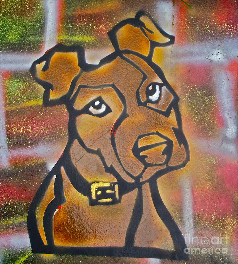 Brown Dog Painting by Tony B Conscious