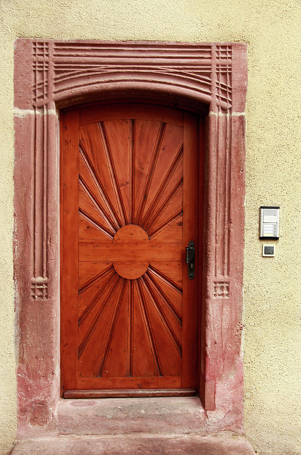Brown Door Exterior Entrance Photograph by Bendebruyn