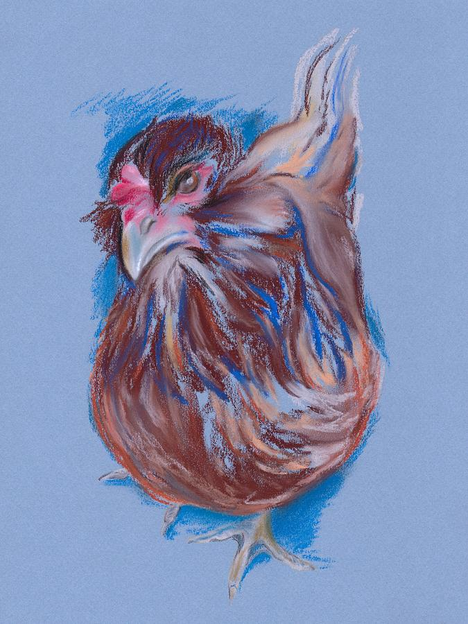 Hen Pastel - Brown Easter Egger Hen by MM Anderson