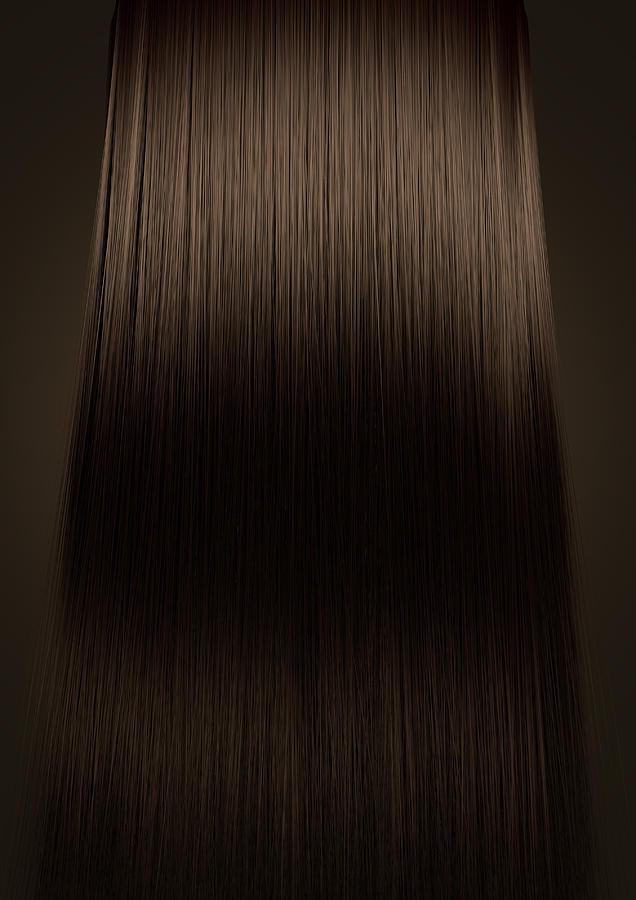 Blonde Digital Art - Brown Hair Perfect Straight by Allan Swart
