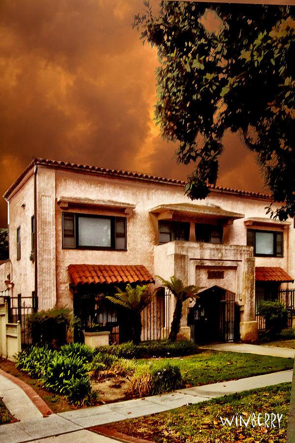 Long Beach Digital Art - Brown House 2 by Bob Winberry