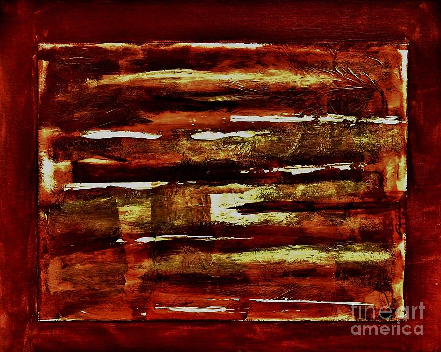 Painting Painting - Brown Red And Golds Abstract by Marsha Heiken