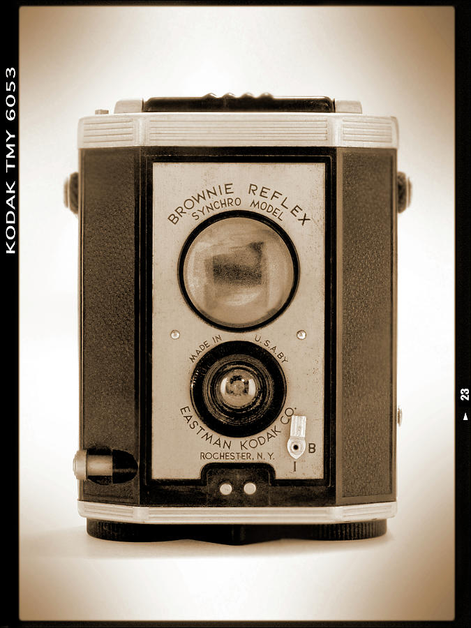 Classic Camera Photograph - Brownie Reflex by Mike McGlothlen