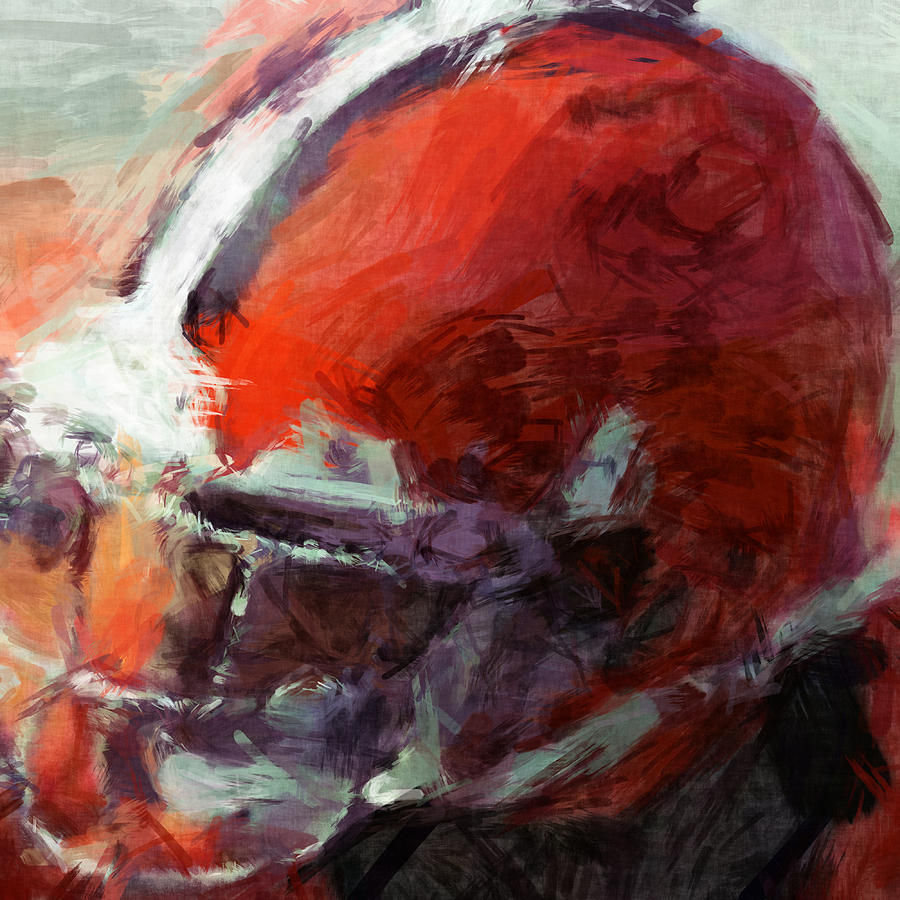 Browns Art Helmet Abstract Digital Art