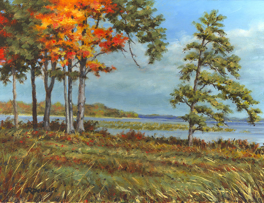 Autumn Painting - Browns Bay by Richard De Wolfe