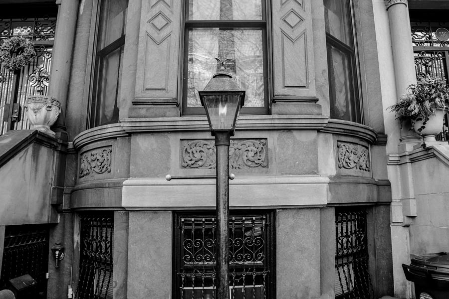 Park Slope Photograph - Brownstone In Park Slope Brooklyn In Black And White by Priyanka Ravi