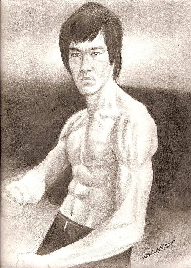Bruce Lee Drawing - Bruce Lee by Michael Mestas