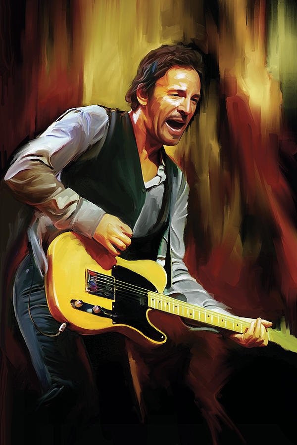 Bruce Springsteen Paintings Painting - Bruce Springsteen Artwork by Sheraz A