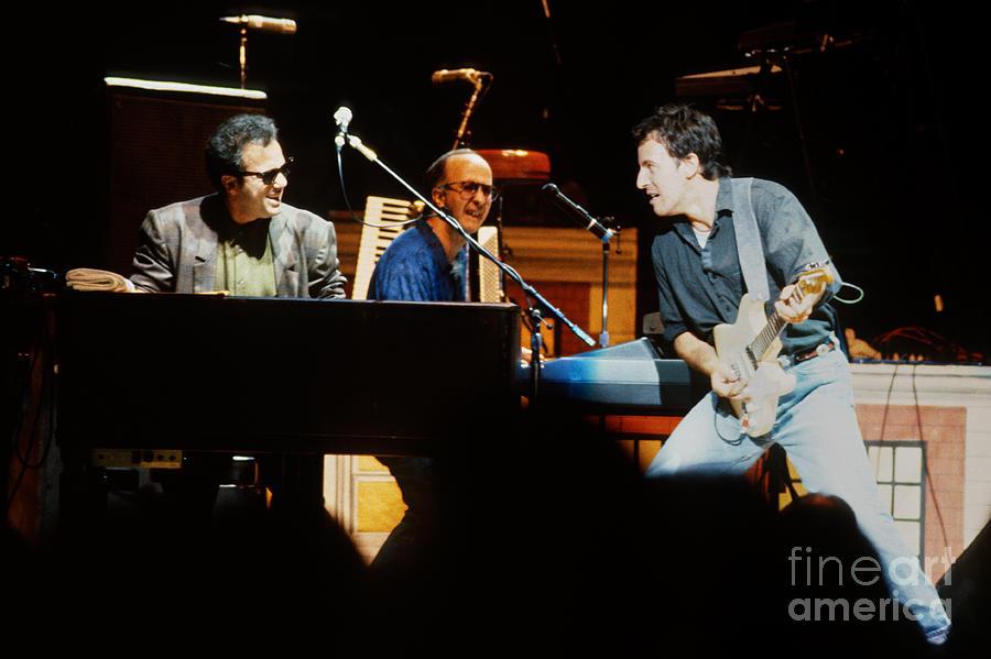 Bruce Springsteen Photograph - Bruce Springsteen Billy Joel And Paul Schaffer by Chuck Spang