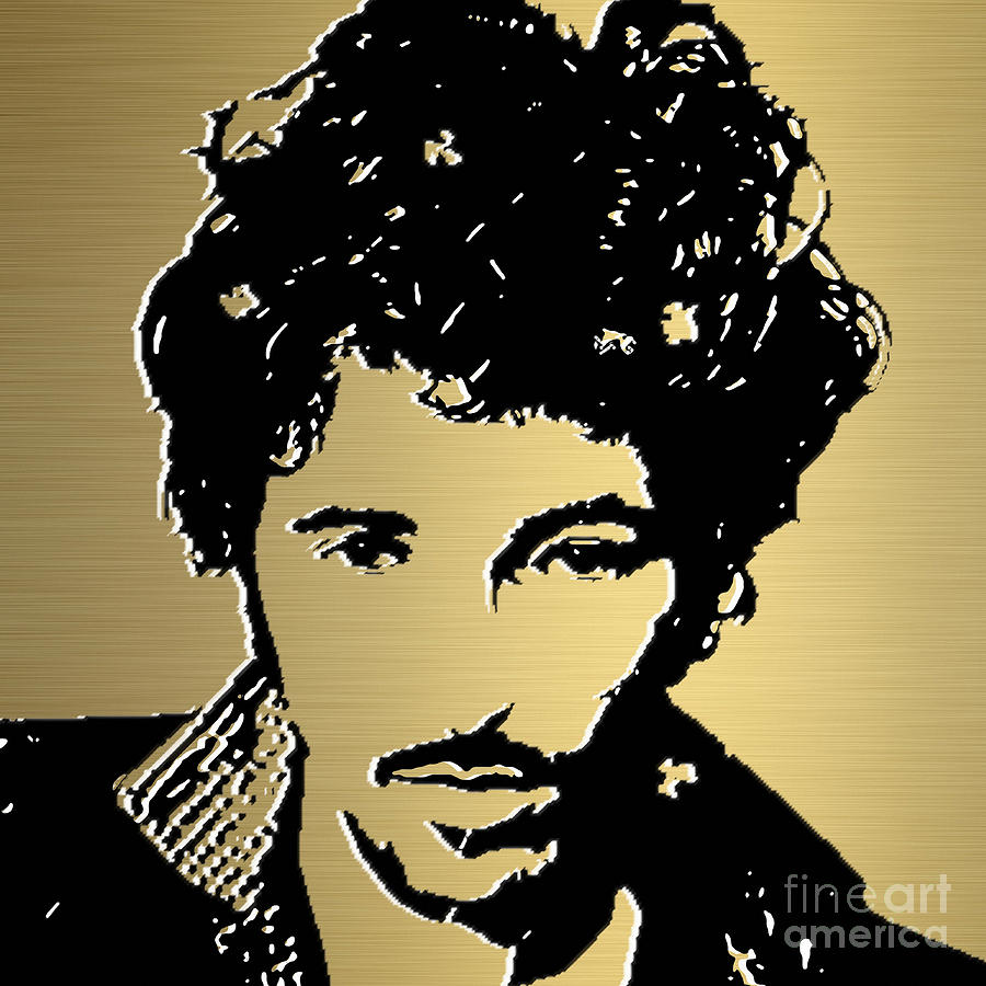 Bruce Springsteen Canvas Prints Mixed Media - Bruce Springsteen Gold Series by Marvin Blaine