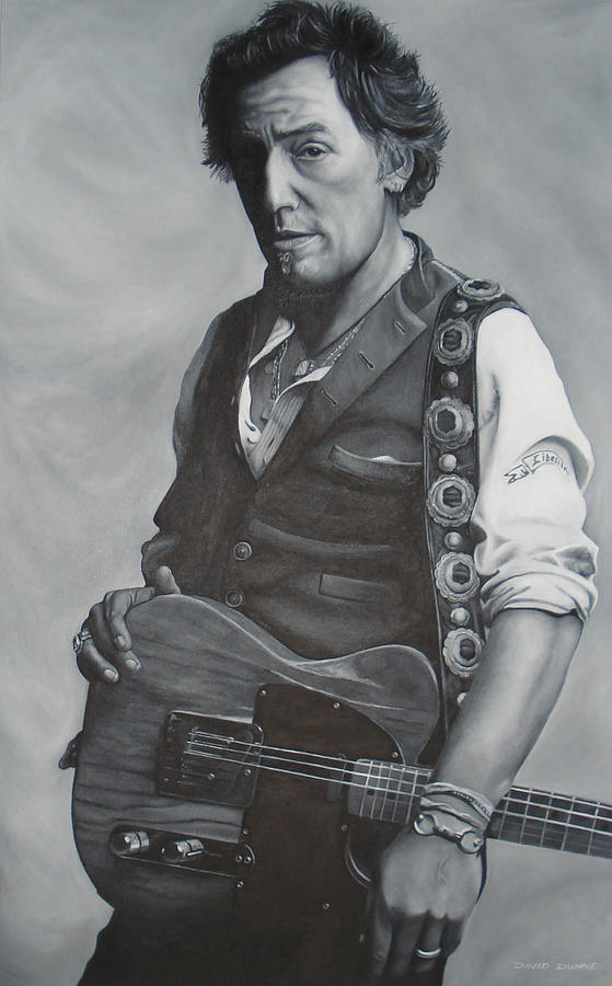 Bruce Springsteen Painting - Bruce Springsteen I by David Dunne