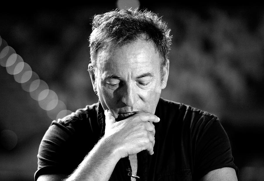 Bruce Springsteen Media Call Photograph by Bradley Kanaris