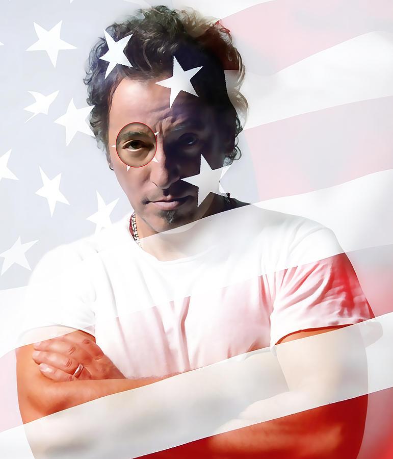 Bruce Springsteen Digital Art - Bruce Springsteen Portrait by Marvin Blaine