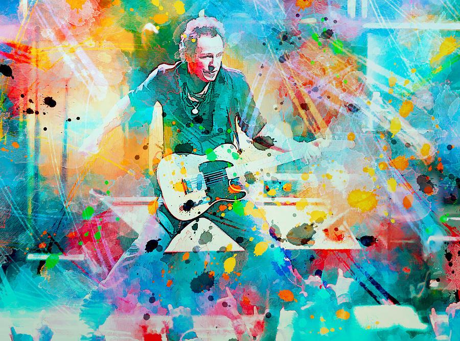 Bruce Painting - Bruce Springsteen  by Rosalina Atanasova