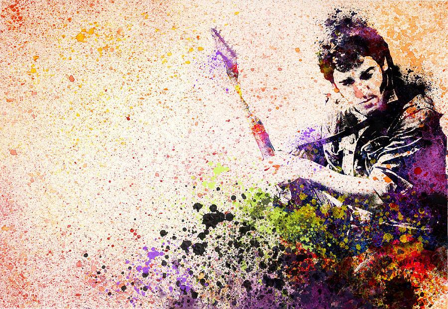 Bruce Springsteen Painting - Bruce Springsteen Splats 2 by Bekim M